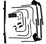 RAMPAGE PRODUCTS 69999 Replacement Installation Hardware for Soft Cab Top for 1987-1995 Jeep Wrangler, Black