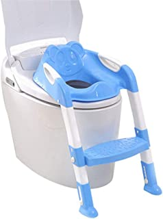 Potty Training Seat for Kids Toddler Toilet Potty Chair with Sturdy Non-Slip Step Stool Ladder Comfortable Handles and Spl...