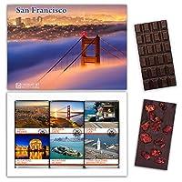 "DA CHOCOLATE キャンディ スーベニア ""サンフランシスコ"" SAN FRANCISCO チョコレートセット 7,2×5,2一箱 (DARK Strawberry Date Cherry)"