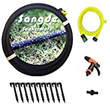 Sangde Soaker Hose for Garden, Saves 70% Water1/2'' Soaker HoseKit Included Rubber Hose Pipefor Irrigation Direct to Root, Great for Gardens/Flower beds
