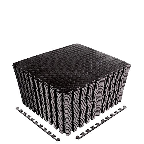 CCLIFE Esterilla Puzzle de Fitness 60x60x1cm 30x30x1cm Suelo de Gimnasio de Goma...