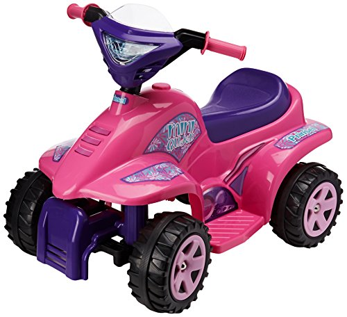 Prinsel Cuatrimoto Eléctrica Mini Quad Girl, Color Rosa