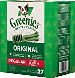 Greenies Dental Chews for Dogs, Regular, 27 Count, 12 Pack