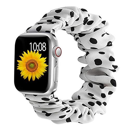 MOODER Correa compatible con Apple Watch Band 40 mm, 44 mm, 42 mm, 38 mm, 42 mm, 42 mm, pulsera de nailon elástico compatible con Iwatch Series 6 5 4 3 Se Band