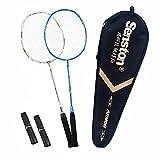 Senston S-300 Haute Qualité supérieur Set de Raquettes Badminton Pleine Carbone Raquettes Bonne stabilité 2 Raquette and 2 surgrips