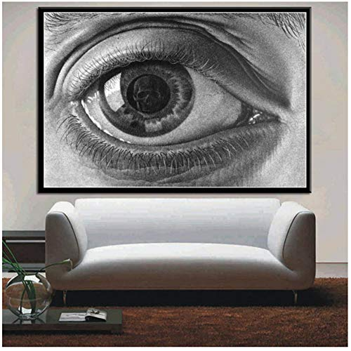 Escher Surrealistische geometrische posters en prints Artwork Modern Abstract Poster Wall Art Foto Canvas Schilderij voor Kamer Home Decor -60x90cm Geen lijst