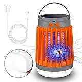 Insektenvernichter Camping, UV Licht Mückenkiller 2 in 1 Camping Lantern Wasserdicht Tragbar Solar...