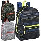 24 Pack of Wholesale 17 Inch Printed Bulk Backpacks For Kids - Boys and Girls Bulk Wholesale Backpacks