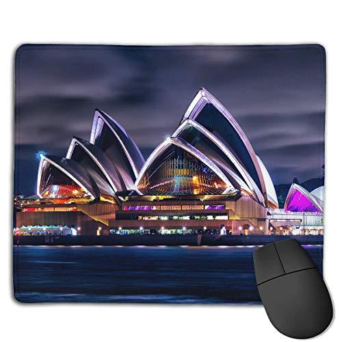 Alfombrilla de ratón Sydney Theatre Scenery Art Rectangular Mousepad Antideslizante Gaming Mouse...