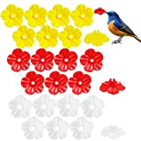 Miwasion 24 Pieces Hummingbird Feeders Replacement Flowers,Hummingbird Feeder Replacement Flower Parts, Hanging Parts of Hummingbird Feeder Feeding Port (red/Yellow/White