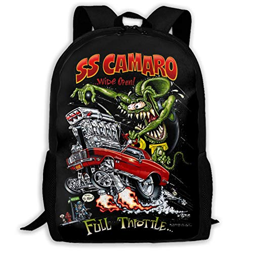 AOOEDM Backpack Rat Fink School Lightweight Large Capacity Casual Printed Adult Backpack Unisex