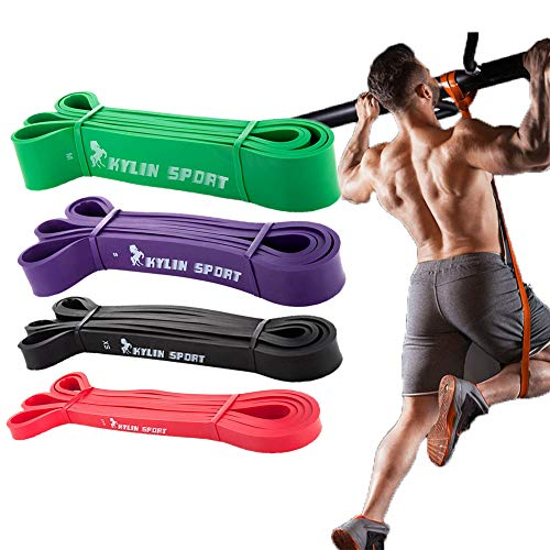 Fitnessband Widerstandsband Set, Klimmzug Theraband Resistance Bands, Fitnessbänder Gymnastikband für Krafttraining Crossfit Exercise, Trainingsband Fitness Bänder Pilates Yoga Zuhause Workout Gym