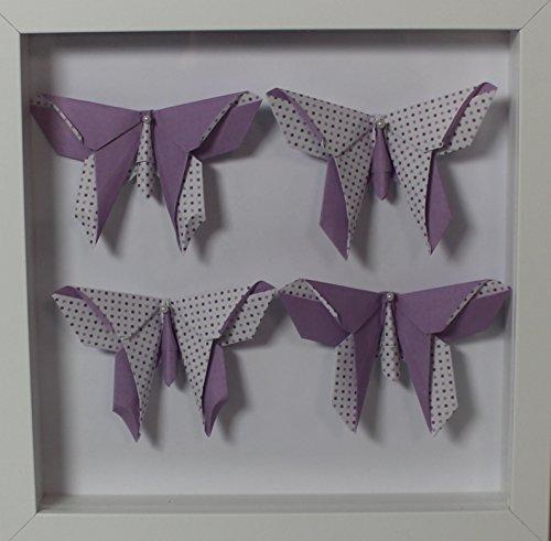 Cuadro de origami de mariposas