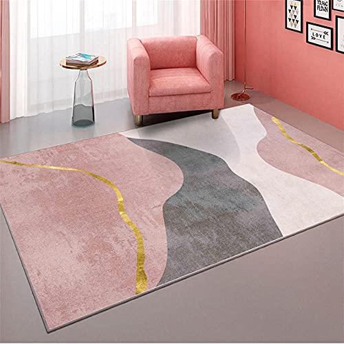 alfombra infantil juvenil marrón Alfombra de sala de estar marrón rayas abstractas alfombra de salón moderna suave alfombras dormitorio matrimonio 180X250CM alfombras exterior jardin 5ft 10.9''X8ft 2.