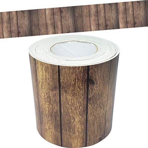 Teacher Created Resources Dark Wood Straight Rolled Border Trim - 50ft - Decorate Bulletin Boards, Walls, Desks, Windows, Doors, Lockers, Schools, Classrooms, Homeschool & Offices