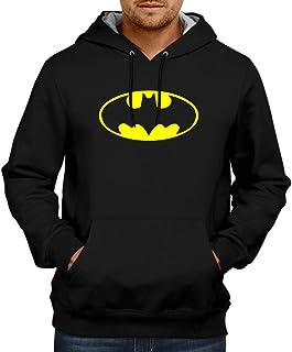 CUPIDSTORE Superhero -4 Batman Logo Hoodie Black Sweatshirt Hoodies for Mens