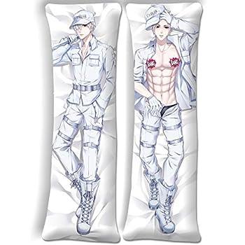 SDMFUNS Cells at Work White Blood Cell Dakimakura Pillow Case Anime Pillowcase Uncensored 59inx19.6in(150cm x 50cm) Peach Skin