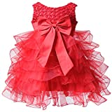 BHL Baby Girl Pageant Dress Organza 3 Month Red