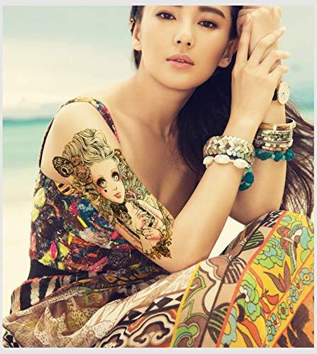 DSSJ Etiqueta engomada del Tatuaje de Moda Impermeable Flor Brazo Personalidad Sexy Etiqueta Grande del Tatuaje