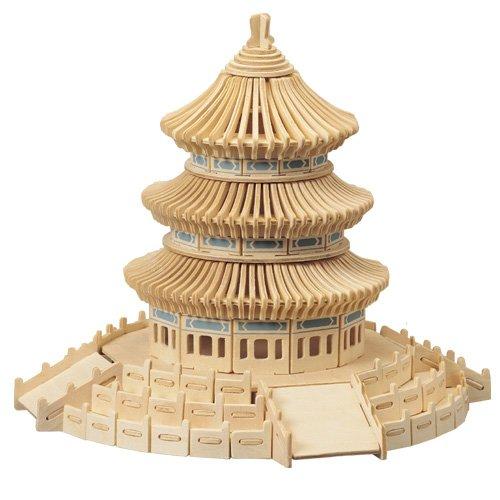 Etna Himmelstempel 3D Holzbausatz Tempelanlage Peking Steckpuzzle China Bauwerk Holzpuzzle P075