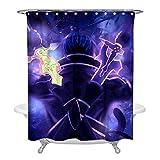 HUANGPW S-word Art on-line Cortinas de ducha para baño de tela impermeable cortina de baño única decoraciones de baño
