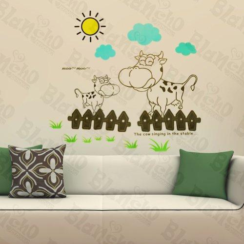 Sunny Vache – Stickers muraux Stickers pour Home D ¨ ¦ cor couleurs mixtes