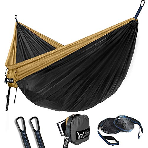 WINNER OUTFITTERS Double Camping Hammock - Lightweight Nylon Portable Hammock, Best Parachute Double...