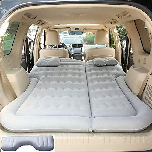 HAHAHA Portatile Materasso Gonfiabile per Auto Air Bed Lettino in Tessuto Floccato da Campeggio con 2 Cuscini d'Aria per Dormire, Riposare, Viaggiare E Campeggio per SUV E MPV Universali,Grey