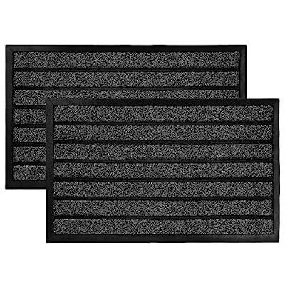Olanly 2-Pack Original Durable Striped Door Mat...