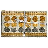 Homescapes moderner Chenille Teppich Läufer grau senfgelb 66 x 200 cm Circles & Stripes Küchenläufer - 7