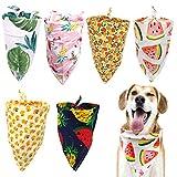 Paquete de 6 Bandanas para Perro, Pañuelos Ajustables para Perro,Baberos Triangulares Lavables Reversibles, Accesorios para Perros pequeños, medianos y Grandes, Cachorros