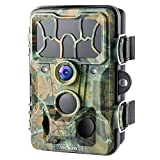 Victure Trail Game Camera Waterproof IP66 with Night Vision 20MP 1080P and 130° Detection Hunting...