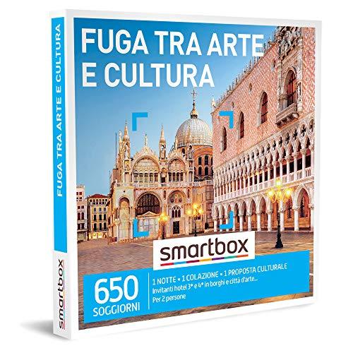 Smartbox - Fuga tra Arte e Cultura - Cofanetto Regalo Coppia, 1 Notte con Colazione e 1 Proposta Culturale per 2 Persone, Idee Regalo Originale