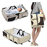VENJA (LABEL) Portable Multifunctional Baby Travel Bed Cot/Bassinet and Folding Mummy Diaper Bag
