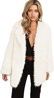 Womens Winter Tops Teddy Bear Thick Warm Fleece Fur Fuzzy Jacket Coat Outwear