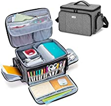 Luxja Carrying Case Compatible with Cricut Joy and Easy Press Mini, Carrying Bag with Supplies Storage Sections, Gray