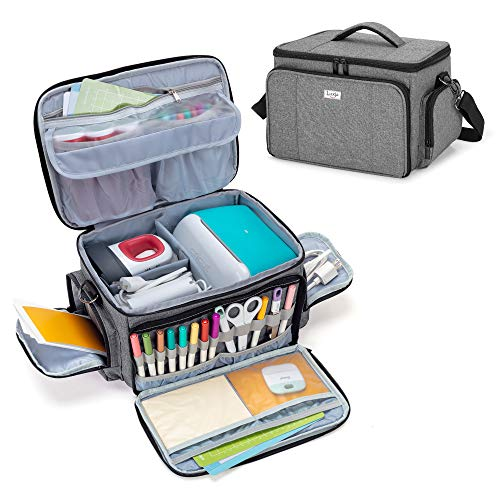 Luxja Carrying Case Compatible with Cricut Joy and Easy Press Mini, Carrying Bag...