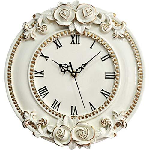 Horloge murale de style européen salon créatif art pendule horloge personnalité montre murale salon chambre horloge à quartz 12 pouces