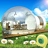 Inflatable Bubble Tent House - Gdrasuya10 Transparent D-Ring Luxury Single Tunnel Eco Bubble House Camping Tent 3-5 People with Blower for Outdoor Indoor Family Backyard Party Festivals Stargazing
