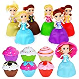 Vazussk 12PCS Mini Cupcake Girls Dolls Lovely Cupcake Princess Doll Transformed Scented Cake Toy for Girls