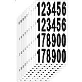 JUN-H 65 mm Numeros Adhesivos Grandes Dígitos Autoadhesivos Negros 0-9 Números Pegatina Agua Y Dígitos Autoadhesivos Resistentes A La Intemperie 240 Números