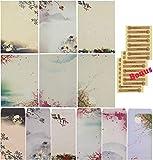 Sunswei - Juego de papel para cartas, A4, 48 unidades, varios colores, 24 sobres