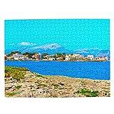 España Playa de Alcudia Mallorca Rompecabezas para Adultos, 500 Piezas de Madera, Regalo de Viaje, Recuerdo, 20.4 x 15 Pulgadas