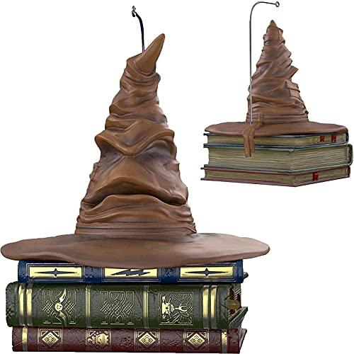 FTIK Harry Potter Talking Hat, Choixpeau Magique Interactif Qui Bouge Et Parle, Décoration de Noël de Chapeau de tri Harry Potter, Chapeau de tri de Harry Potter Brown
