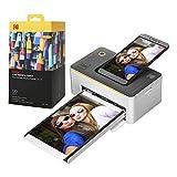 "Kodak Dock Premium 4x6"" Portable Instant Photo Printer (2021 Edition) Bundled with 130..."