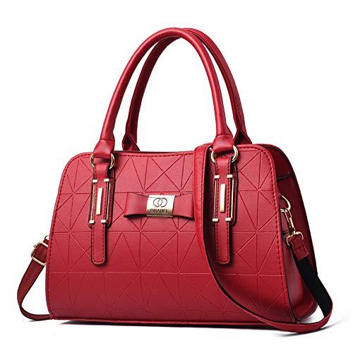 CMZ Rucksäcke Boston Frauentaschen Modehandtaschen mit großer Kapazität Damen einfache einfarbige Umhängetasche mit Einer Schulter