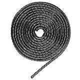 YIXISI Organizador de Cables en Espiral,Tubo de La Envoltura del Cable para PC TV DVD Cable de Antena Estéreo Agrupar Cable(Negro,12mm*6m)
