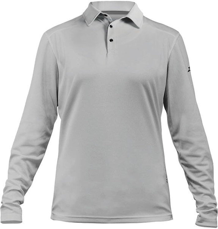 Zhik Frauen Zhikdry LT Langarm - Polo - Spitze Hemd Ash - Leicht - Schnell Dry - Schnelle Drying - UVF30 + Schutz