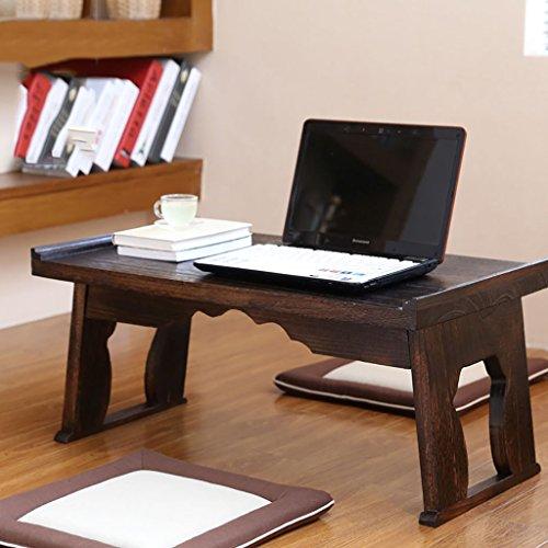 Table pliante table petite table basse pliante kang table flottante fenêtre table lit paresseux table à thé en bois massif Bureau d'ordinateur (taille : 80 * 44 * 36cm)