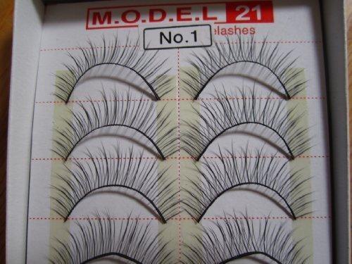 MODEL 21 False fake No. 1, 1A, 2, 3, 4, 5A, 5B, 6A OR 6B Eyelashes 10 Pairs by Model 21